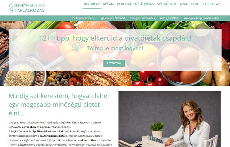 Weboldalkészítés - Websiker Weboldal Csomaggal - Csikós Andrea - taplalkozas-eletmod.hu