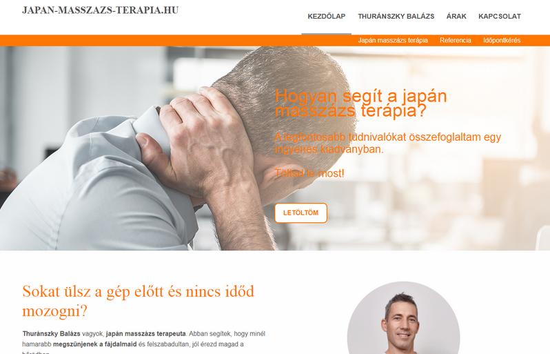 Weboldalkészítés - Websiker Weboldal Csomaggal - japan-masszazs-terapia.hu