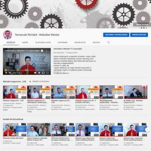 Temesvári Richárd - Websiker Mentor Youtube csatorna